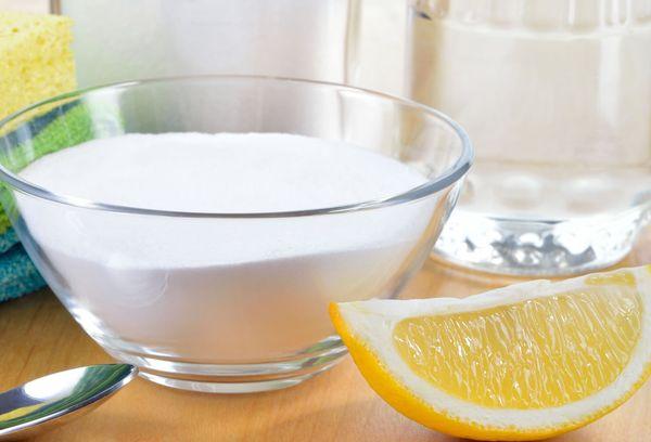пищевая сода и лимон