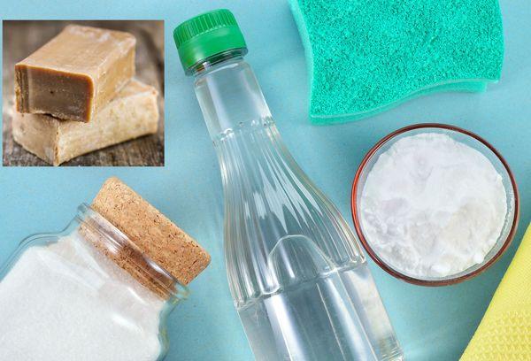 хозяйственное мыло, соль, сода
