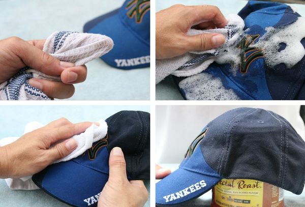 ручная чистка кепки