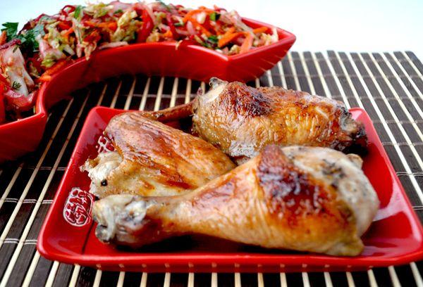 жаренные кусочки курицы