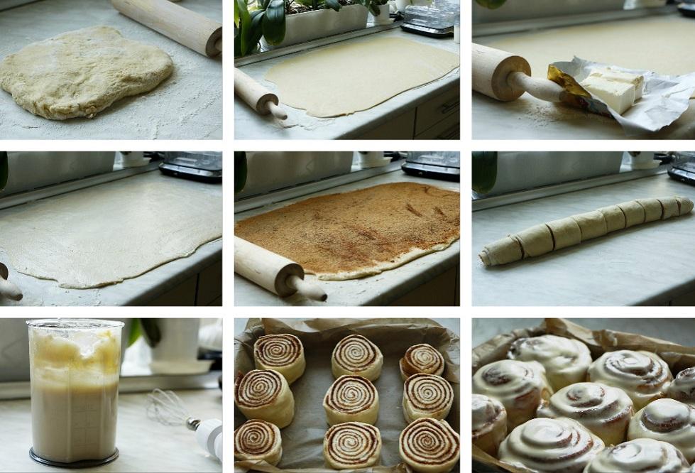Приготовление карамельных булочек с орехами