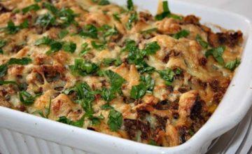 Готовим в духовке картофельную запеканку с мясом
