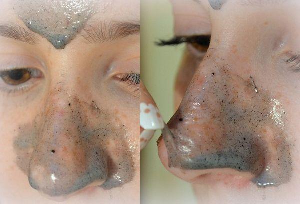 желатин и уголь маска