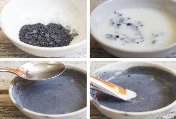 Активированный уголь с йогуртом