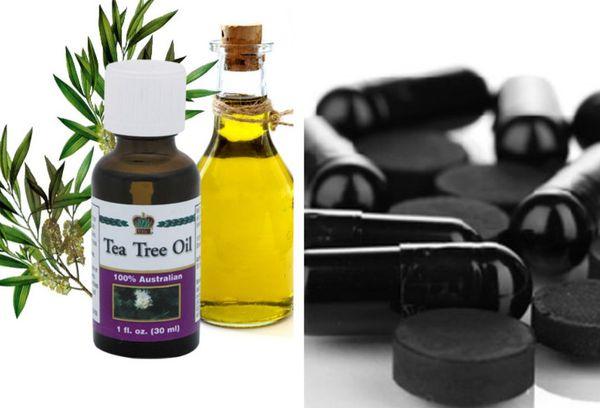 Активированный уголь и масло чайного дерева