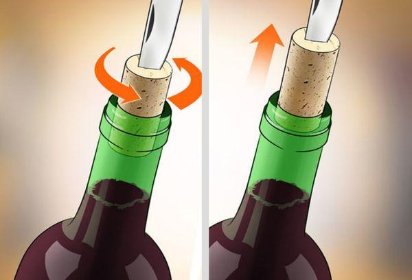 откупорить вино ножом