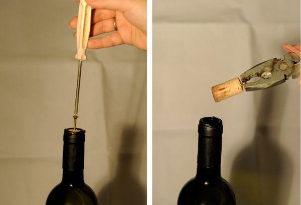 Открытие вина саморезом