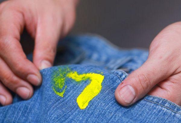 Пятно от краски на штанах