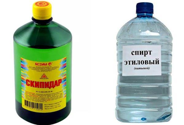 Скипидар и спирт