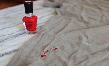 Как можно отстирать лак для ногтей с одежды из натуральных и синтетических