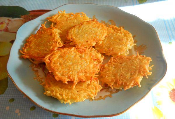 Картофельные оладьи без яиц