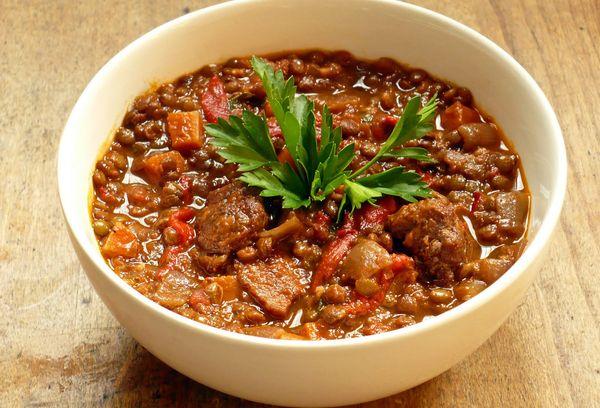 Чечевичная каша с мясом