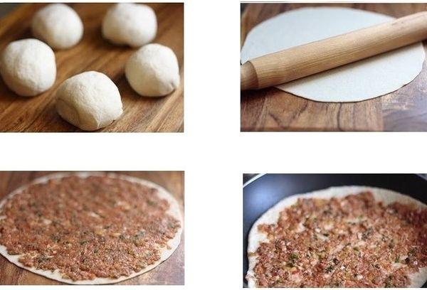 Приготовление армянской пиццы