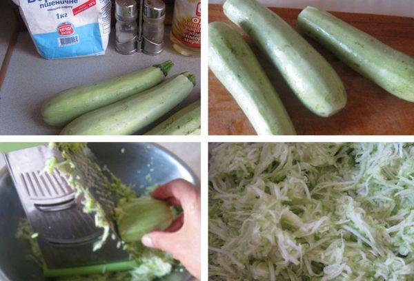 Приготовление оладий с кабачками