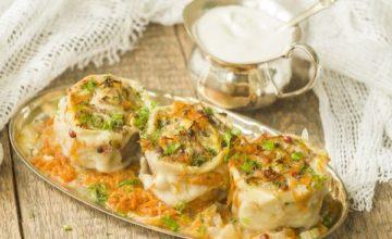 Пельмени, запеченные в духовке, с грибами и сыром