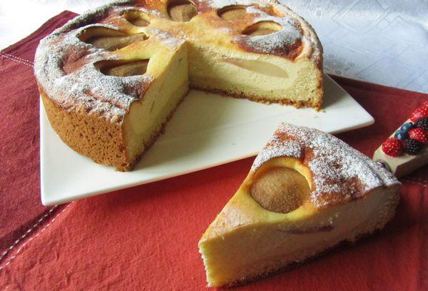 Десерт с грушами