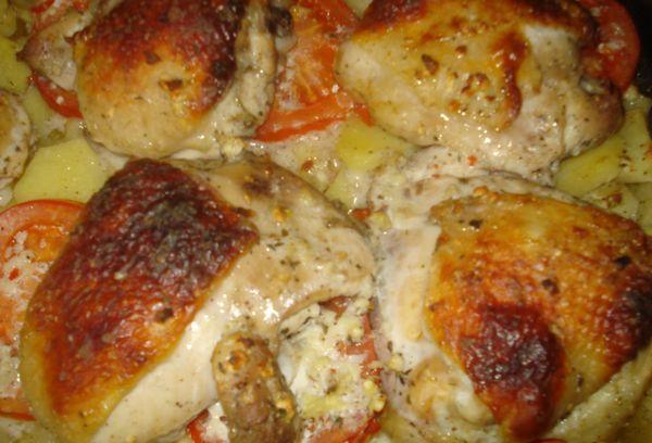 Куриное мясо на кефире запеченное в духовке
