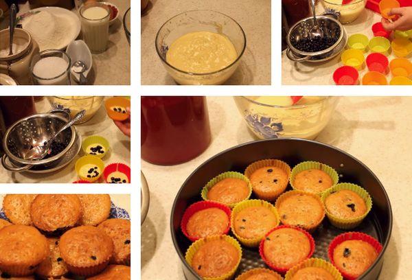 Приготовление кексов на кефире