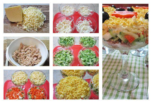 Приготовление салата из тунца