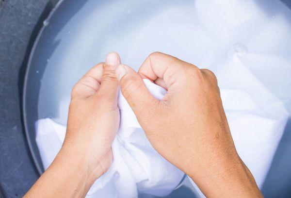 Отбеливание полотенец мылом