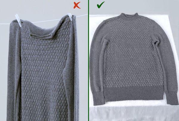 Правильная сушка свитера