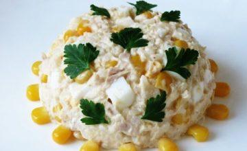 Вкусные варианты салата из тунца с рисом