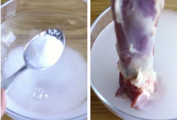 вывести запаха с мяса соляной водой