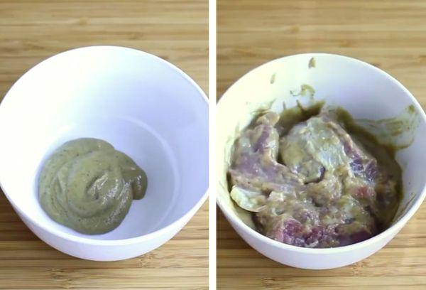 убрать запаха с мяса горчицей