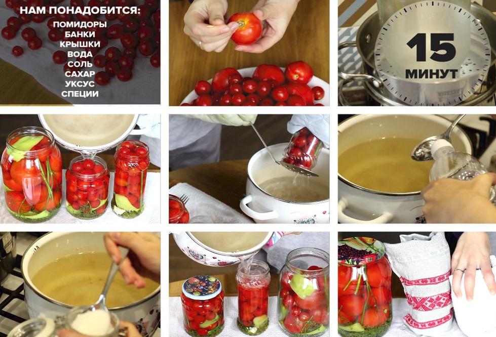 Консервирование вкусных помидор