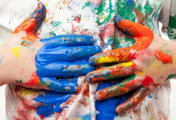 Майка в разноцветных красках