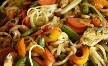 Как приготовить вкуснейшую пасту с курицей и овощами за 15 мин?