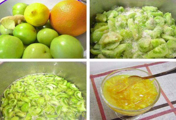 Варенье из помидор и апельсина