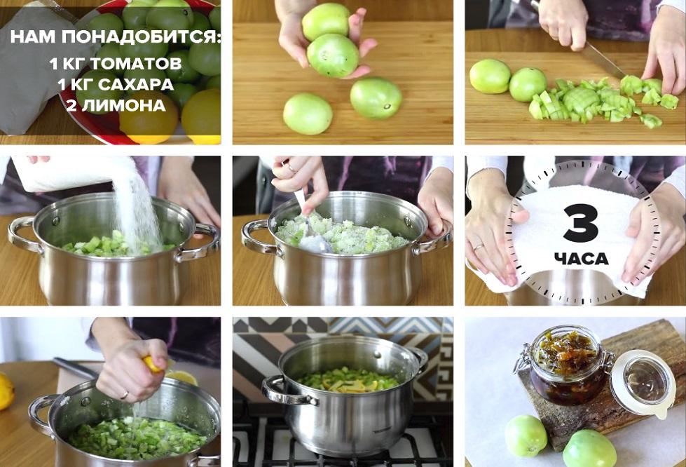 Приготовление варенья из помидор