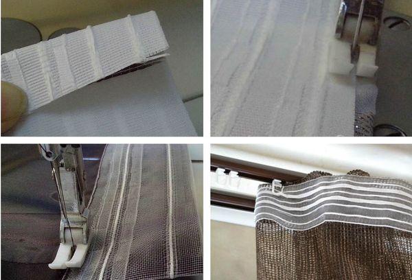 Пришивание шторной ленты на машинке
