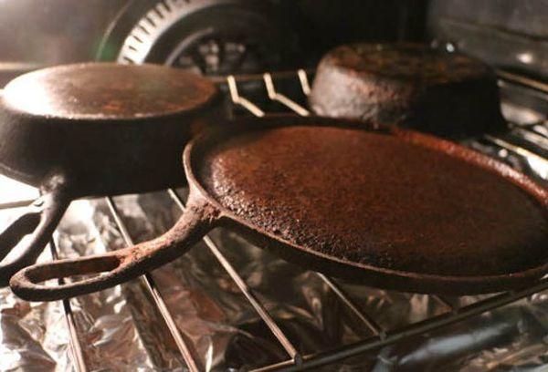 Сковородки в духовке