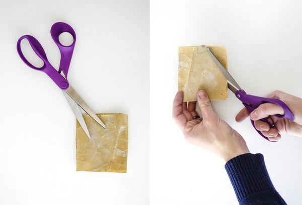 Заточка ножниц на наждачной бумаге