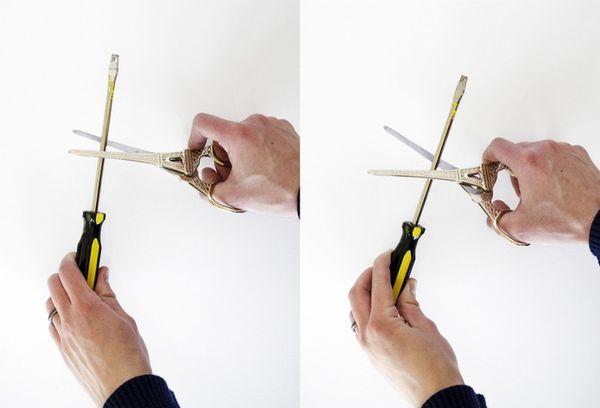 Как наточить ножницы Как быстро наточить ножницы с помощью бруска или иголки в домашних условиях Угол заточки
