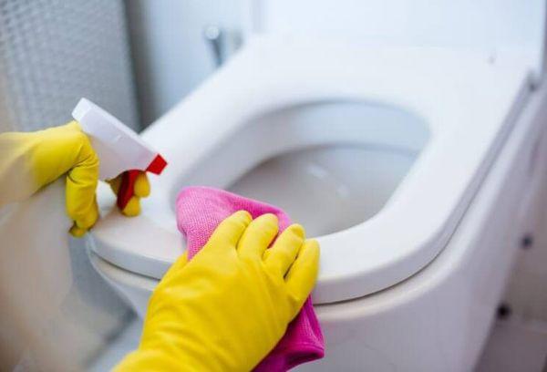 Очищение унитаза чистящим средством