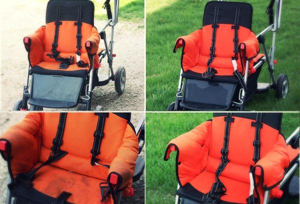 Химчистки коляски фото до и после