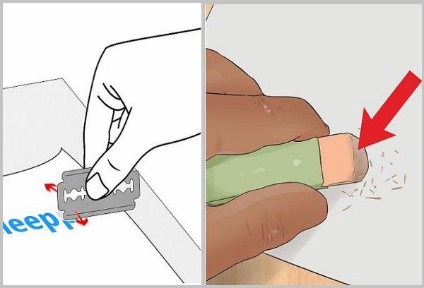 Удаление ручки ластиком