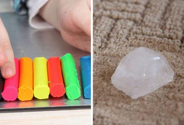Очищение пластилина льдом