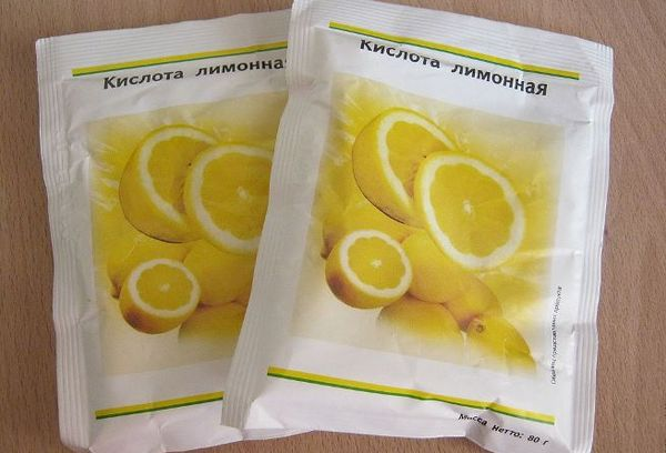Две пачки с лимонной кислотой