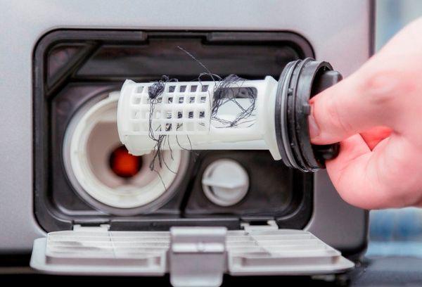 Засорение фильтра стиральной машины