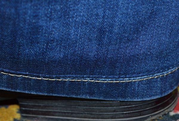 Подшив брюк с сохранением шва