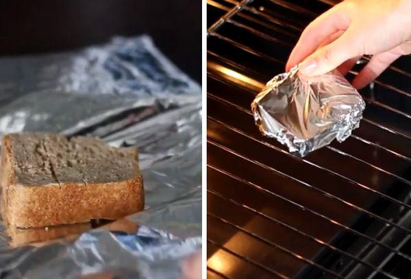Размягчение хлеба в духовке