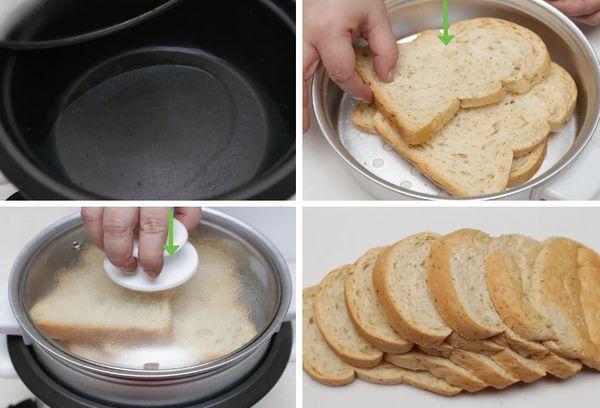 Размягчение хлеба на пару