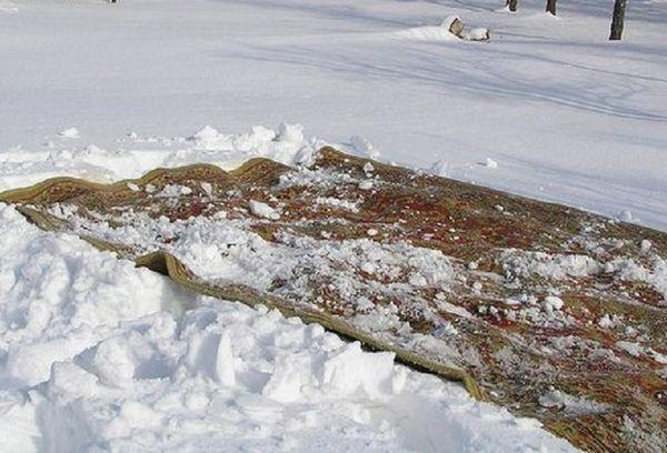 Ковер в снегу