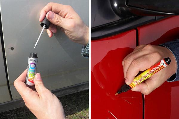 Разновидности карандашей для удаления царапин с автомобиля