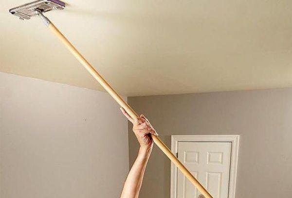 Мытье тканевого потолка