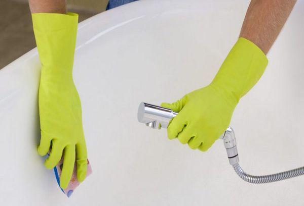 Чистка ванны уксусом